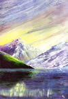 Encaustic Art - Greeting Cards - Wastwater