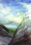 Encaustic Art - Greeting Cards - Derwentwater